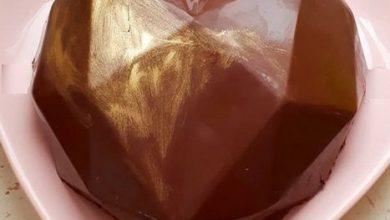 تصویر از طرز تهیه کیک قلب با روکش شکلاتی ویژه ولنتاین و تولد