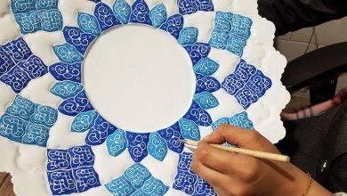 تصویر از بشقاب میناکاری اصفهان بهترین صنایع دستی در کشور ایران