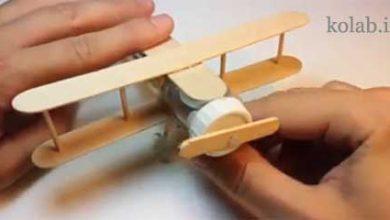 تصویر از ساخت هواپیما با چوب بستنی موتور دار