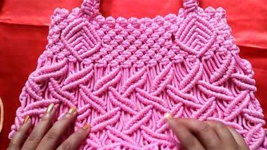 تصویر از آموزش بافت کیف مکرومه بافی شیک