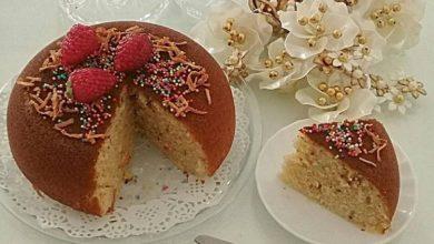 تصویر از طرز تهیه کیک شیر داغ با بافت لطیف و نکته های طلایی