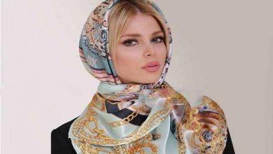 تصویر از مدل بستن روسری مجلسی شیک