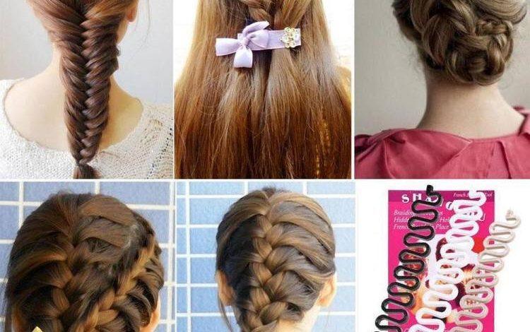 خرید گیره بافت موی زنان بهترین مدل تیغ ماهی 4 عددی