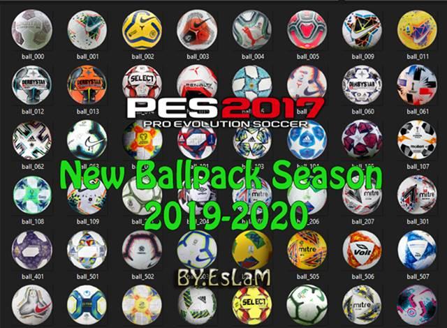 پک توپ 2020 v3 توسط EsLaM برای PES 2017
