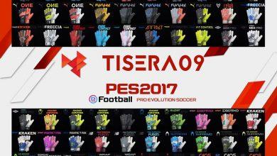 تصویر از پک دستکش v11 توسط Tisera09 برای PES 2017