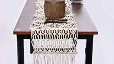 تصویر از آموزش بافت رومیزی مکرومه بافی + مدل