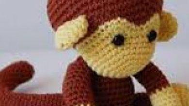 تصویر از آموزش بافت عروسک میمون با قلاب