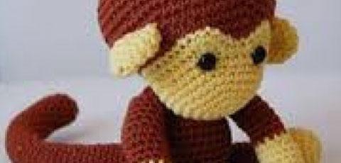 آموزش بافت عروسک میمون با قلاب