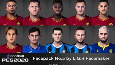 تصویر از فیس پک جدید توسط L.G.R Facemaker برای PES 2020