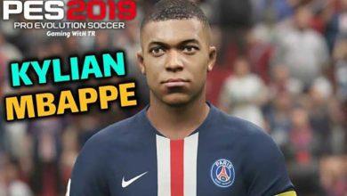 تصویر از فیس و موی Kylian Mbappé توسط CPK برای PES 2019