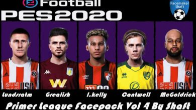 تصویر از فیس پک Premier League v4 توسط Shaft برای PES 2020