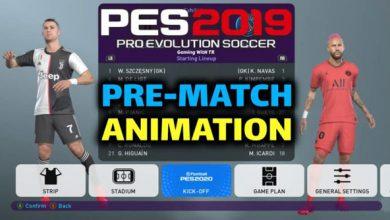 تصویر از مود Pre-Match Animation توسط Ginda01 برای PES 2019