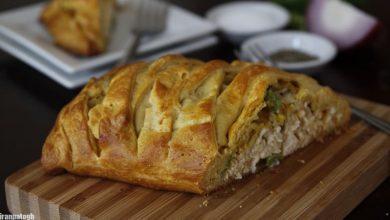 تصویر از طرز تهیه کروسانت مرغ لقمه پیچ غذای بسیار خوشمزه و پرطرفدار