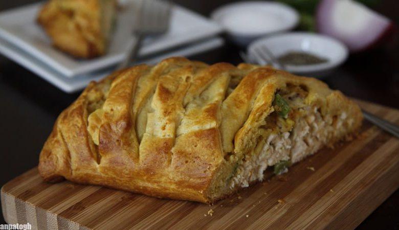 طرز تهیه کروسانت مرغ لقمه پیچ غذای بسیار خوشمزه و پرطرفدار