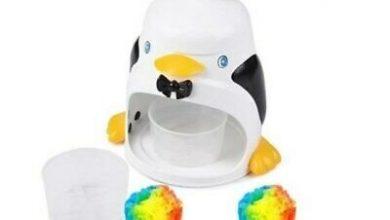 تصویر از خرید دستگاه یخ پودر کن دستی طرح پنگوئن گرمای تابستان