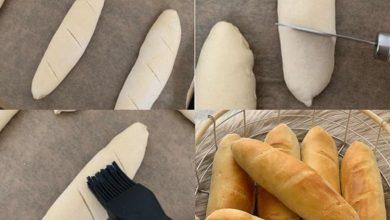 تصویر از طرز تهیه نون باگت در منزل مراحل پخت نان ساندویچ به روش ساده