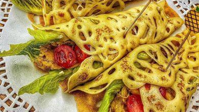 تصویر از طرز تهیه لقمه های توری کرپ مرغ از غذاهای محبوب و لذیذ