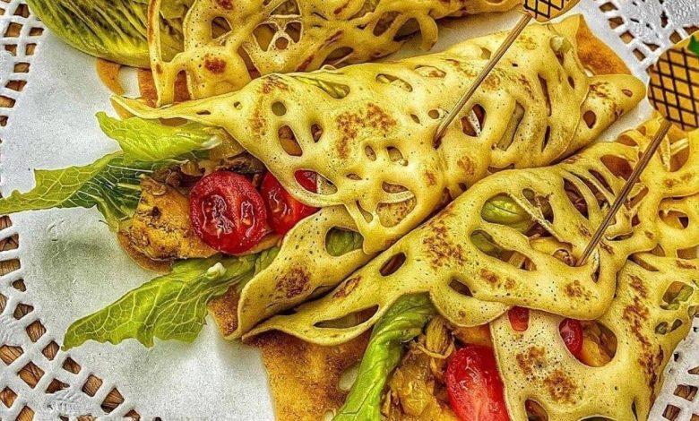 طرز تهیه لقمه های توری کرپ مرغ از غذاهای محبوب و لذیذ