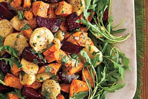 تصویر از طرز تهیه سالاد سبزیجات کبابی
