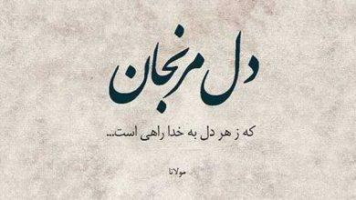 تصویر از عکس نوشته شعر مولانا، عکس پروفایل شعر مولانا