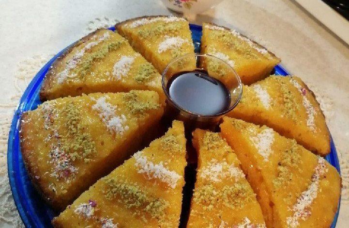 طرز تهیه کیک خیس کاراملی بسیار لذیذ مناسب برای میان وعده