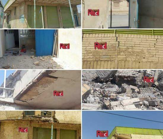 تصاویر تخریب برخی ساختمان ها در زلزله ۵ ریشتری شهر دوگنبدان