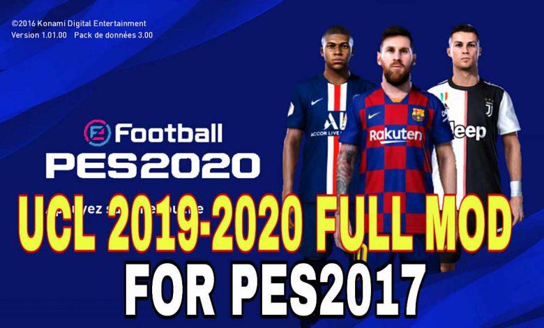 مود New UCL AIO فصل 2019/2020 توسط Aykovic10 برای PES 2017