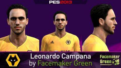 تصویر از فیس Leonardo Campana توسط Facemaker Green برای PES 2013