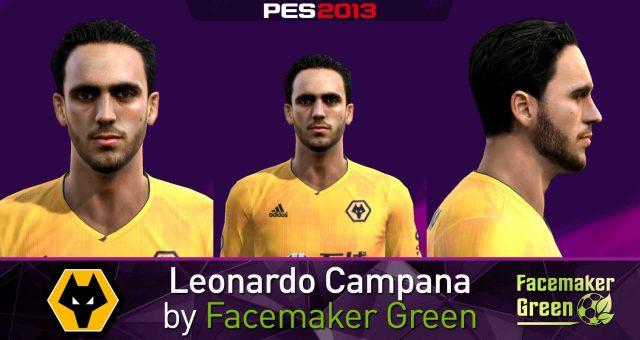 فیس Leonardo Campana توسط Facemaker Green برای PES 2013