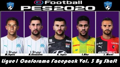 تصویر از فیس پک ورژن 3 لیگ 1 فرانسه توسط Shaft برای PES 2020