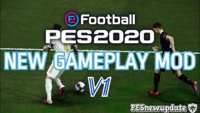 تصویر از گیم پلی مود V1 توسط Pesnewupdate برای PES 2020