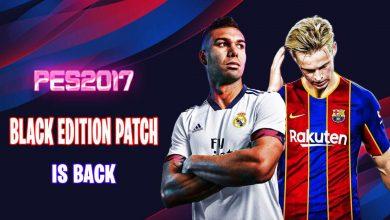 تصویر از دانلود پچ Black Edition فصل 2020/2021 برای PES 2017