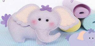تصویر از آموزش دوخت عروسک فیل نمدی