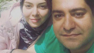 تصویر از چهره بدون آرایش آزاده نامداری در کنار همسرش! عکس