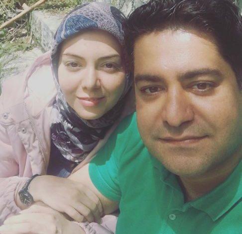 چهره بدون آرایش آزاده نامداری در کنار همسرش! عکس