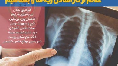تصویر از علائم از کار افتادن ریه ها و شناخت نشانه های خطرناک و جدی
