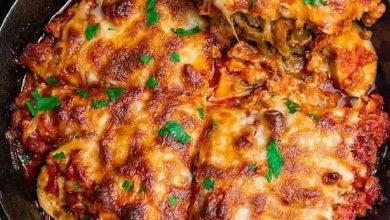 تصویر از طرز تهیه پیتزا بادمجان و پنیر آموزش انواع فست فود متفاوت و لذیذ