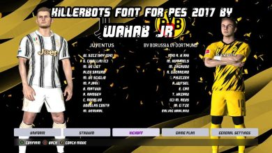 تصویر از فونت پک جدید استایل توسط WAHAB JR برای PES 2017