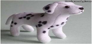 تصویر از آموزش دوخت عروسک سگ خالدار با تصاویر مرحله به مرحله
