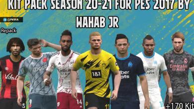 تصویر از کیت پک جدید ورژن 4 فصل 2020/2021 توسط WAHAB JR برای PES 2017 (برای همه ی پچ ها)
