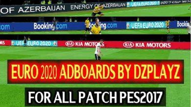 تصویر از تابلو تبلیغات یورو 2020 توسط DZPLAY برای PES 2017