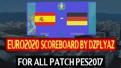 تصویر از اسکوربورد یورو 2020 توسط DZPLAYZ برای PES 2017