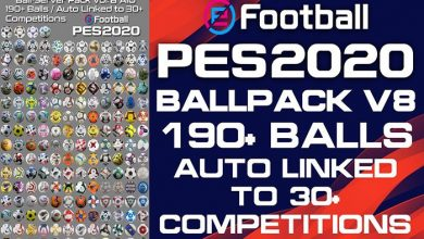 تصویر از پک توپ Ball Server Pack V8 توسط Hawke برای PES 2020