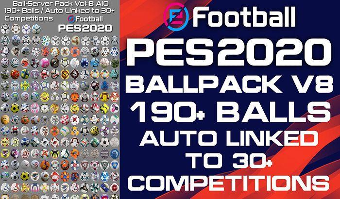 پک توپ Ball Server Pack V8 توسط Hawke برای PES 2020