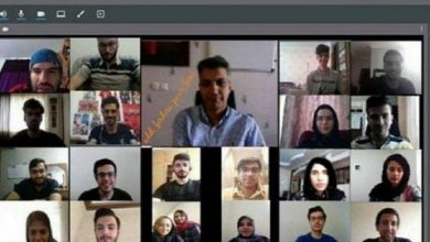 تصویر از تدریس آنلاین زبان توسط فردسی پور به دانشجویانش در دانشگاه شریف! عکس