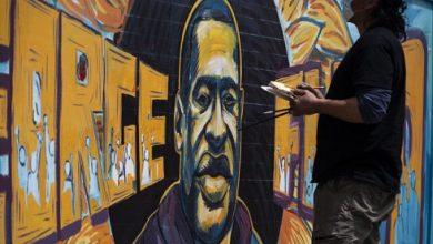 تصویر از نقاشی های اعتراضی برای جرج فلوید، قربانی نژادپرستی در آمریکا + تصاویر