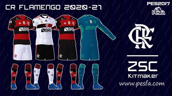 کیت پک Flamengo توسط Kitmaker ZSC برای PES 2017
