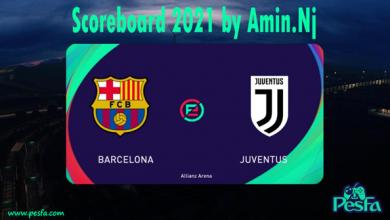 تصویر از اسکوربورد e football pes 2021 برای pes 2017 توسط Amin.Nj