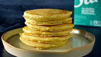 تصویر از طرز تهیه پنکیک ساده و خوشمزه بدون شیر، آرد و تخم مرغ!
