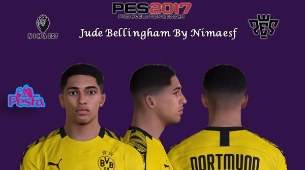 فیس Jude Bellingham توسط Nimaesf برای PES2017